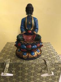 收到琉璃佛像一个、重1005克