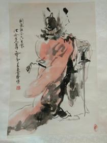 刘书军(又名:书君 山东省美协副主席)   钟馗    作品保真