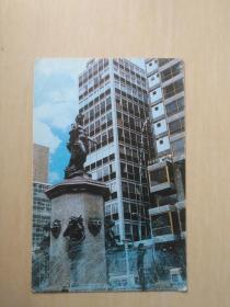 拉巴斯市喷泉雕像明信片1张