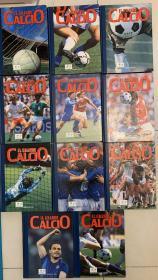 FABBRI EDITORI出版 意大利足球年鉴全11册,意大利足球1929-1991最全的资料记载