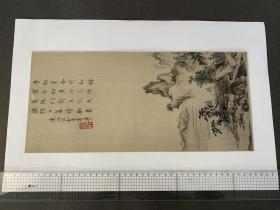 山水屏风画  (东京帝室博物馆所藏) 画芯尺寸405x185mm