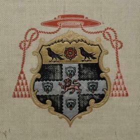1911年Christ Church, Oxford 《牛津大学风物图鉴》初版本 白亚麻布面豪华装桢 名家Arthur Garratt 张26套色版画 超大开本 品绝佳 教育机构装饰佳品