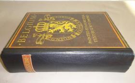 1903年A. Forestier _ Belgium 水彩画绘本《比利时风物图志》珍贵初版本 77张绝美彩色插图 手工摩洛哥羊皮书脊