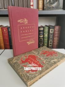aesops fables《 伊索寓言》 heritage press1941年 布面精装版 new version  带书匣 Robert Lawson 精美配图