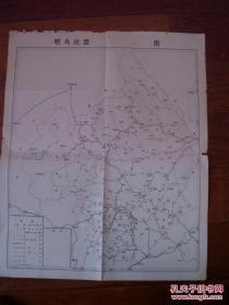 昭乌达盟(现赤峰市)图  70年代