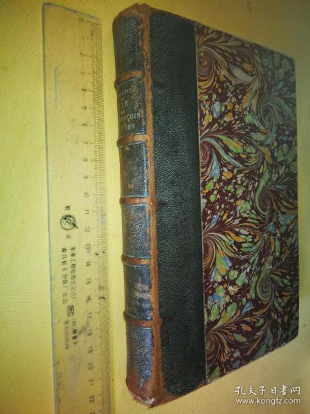 古籍珍本 书脊皮革面 法文原版  VIE DE S.FRANCOIS D'ASSISE