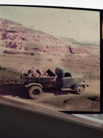 1975柯达彩色反转底片:解放卡车运输贵池马牙锰矿矿石