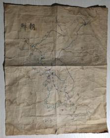 抗美援朝战争时期朝鲜铁路地图