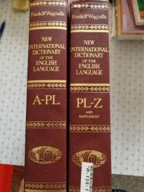 Funk & Wagnalls New International Dictionary of the English Language Comprehensive Edition (A-PL PL-Z)英语原版