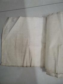 老画布一卷,约二三十米长,宽37厘米,像民国时期,可用来画画