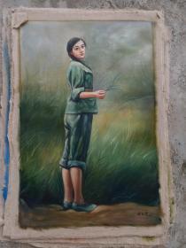 名人手绘油画70 x90厘米,,