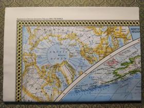 National Geographic国家地理杂志地图系列之1994年2月 The World 世界地图