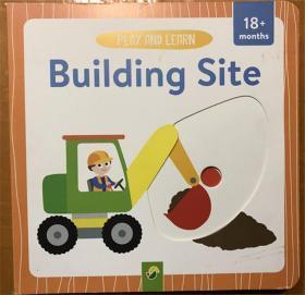 尾单新品 play and learn building site 原版纸板机关书