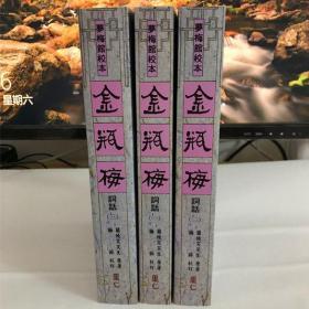 锦平梅繁体竖排带插图,平装三册一套,梦梅馆本