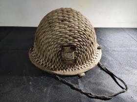 日本奴役下的中国矿工帽子 古玩古董红色博物馆真品收藏