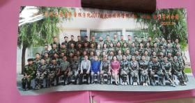 2017年9月内蒙古农业大学经济管理学院2017级农林经济管理三班、四班新生军训合影,38.8*20.3cm,8品