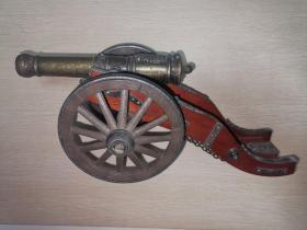 铜木古代炮台打火机 装饰品