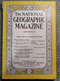 National Geographic September 1935 国家地理杂志1935年9月