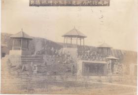 民国老照片(陕西)陕西西安新城北门内三亭及小碑林