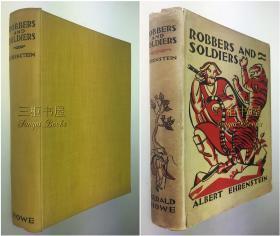【签名本】1929年初版《水浒传》英译本/Geoffrey Dunlop 英译/Albert Ehrenstein/水浒 /精装原书衣/ Robbers and Soldiers