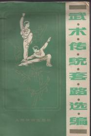 《武术传统套路选编》【老版武术书,品如图】