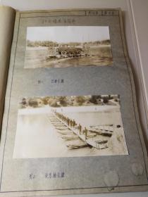 1969年六九式橡皮浮筒舟,运送部队,晒蓝图册12页,照片9张