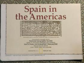 National Geographic国家地理杂志地图系列之1992年2月  Spain in the Americas