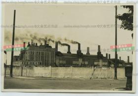 民国上海工业工厂老照片,杨浦区腾越路的工厂,罕见。根据记载这一带有英商班达蛋行,煤气厂等。