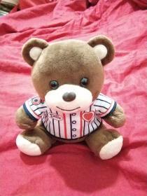 玩具,小熊,穿足球隊衣的小熊,06號小熊,咔啡色小熊,絨布玩具,