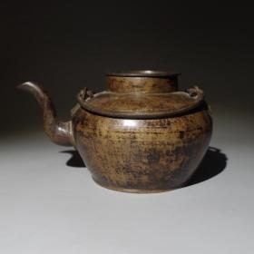 清代铜壶铜茶壶茶水壶茶具茶文化收藏古玩古董茶壶茶器老铜器铜壶