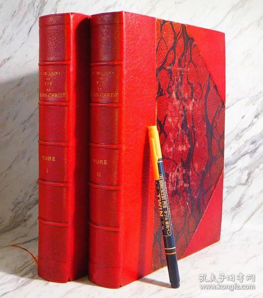 法国1804年 耶稣基督的生涯 全2册 鲁本斯等铜版画74幅刊入