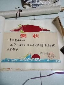邯郸市轴承厂(植绒)奖状