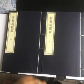 """正版现货 鸳鸯湖棹歌(一函一册)函中有""""嘉兴图书馆""""等数个收藏丛印章"""
