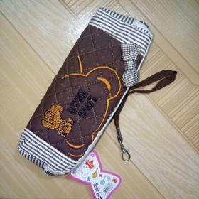 筆袋 卡哇伊雙鏈布料筆袋送提帶。