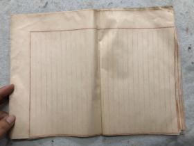 民国空白大张信笺,手工纸43张,35*24,有剪切