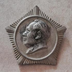 领袖五星铝质章