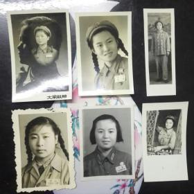 五十年代美女军人老照片三十张合售