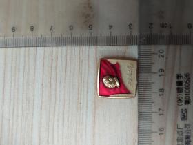 毛主席像章:万岁毛主席影展,尺寸图参考