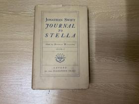 Journal to Stella     斯威夫特 情书集《给斯特拉的日志》,卷二(全套2卷),(《格列佛游记》作者),毛姆、罗素、奥威尔都学他,董桥:这段时期绥夫特的生活与工作都写进那部有名的《给斯特拉的日志》。布面精装,1948年老版书