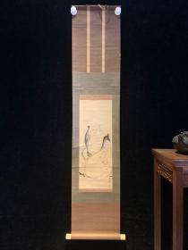 清代布袋大师和风日本回流字画古玩肉笔手绘挂轴原装真迹现货