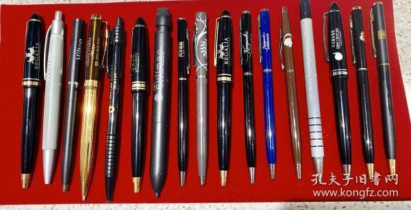 """宾馆纪念笔 标有宾馆""""佬够""""标志的各种笔 34支无一重复 来之不易 多年集藏 一起出售"""