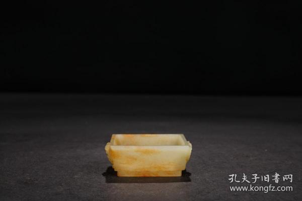 """回流:【和田玉籽料""""福在眼前""""四方小琴炉】"""