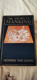20世纪著名学者 房龙 代表作《人类的故事》亲笔画画签名本  英国初版 珍贵