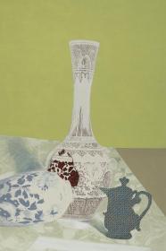 版画家 姜立杰2012年丝网版画《青花呓语I》一幅(尺寸:60*40cm,版号随机,供货编号为:10-80/90,作品直接得自于艺术家本人!) HXTX117452