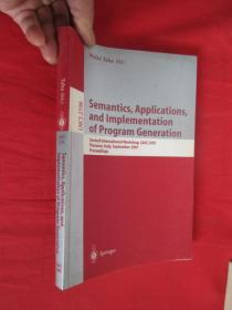Semantics, Applications, and Implementatio...        【小16开 】  【详见图】
