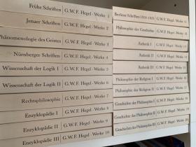黑格尔全集 理论版  全20卷  Werke in 20 Bänden mit Registerband - Gesamte Werkausgabe (精神现象学,法哲学,逻辑学,哲学史等)