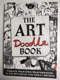 The Art Doodle Book 艺术涂鸦书 绘画涂色填色图画解压书 英文版