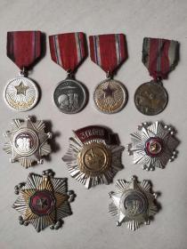 九个抗美援朝时期的纪念章,全部保老保真,整体保存良好,收藏佳品美品。