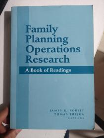 Family Planning Operations Research<家庭规划运筹学》