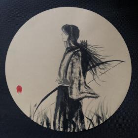 丙烯水墨画